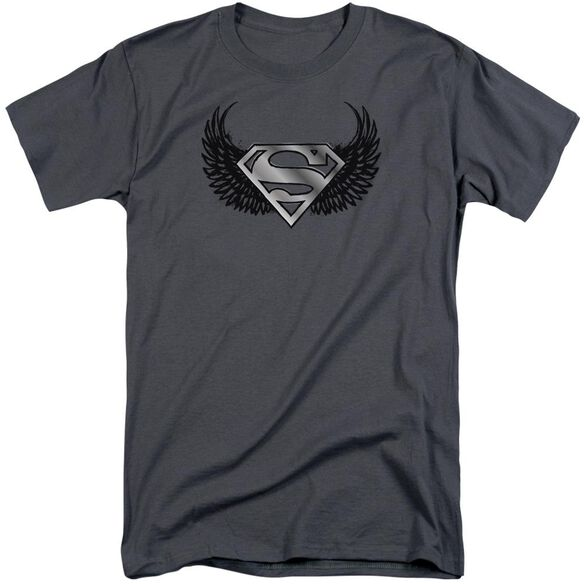Superman Dirty Wings Short Sleeve Adult Tall T-Shirt
