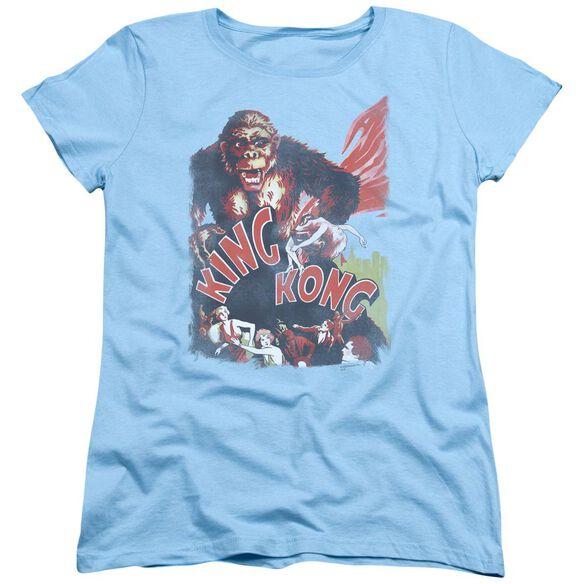 King Kong You Better Run Short Sleeve Womens Tee Light T-Shirt