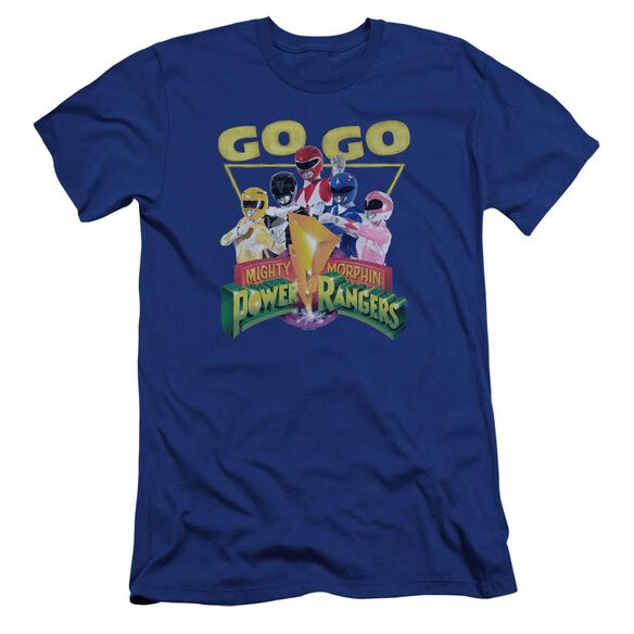 Power Rangers Go Go Premuim Canvas Adult Slim Fit Royal