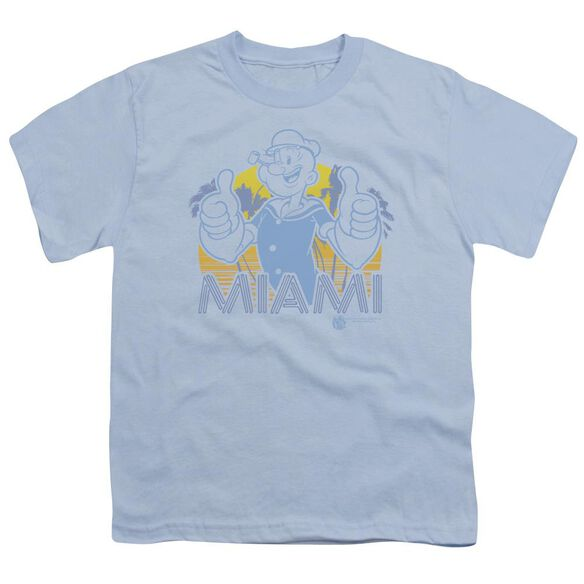 Popeye Miami Short Sleeve Youth Light T-Shirt