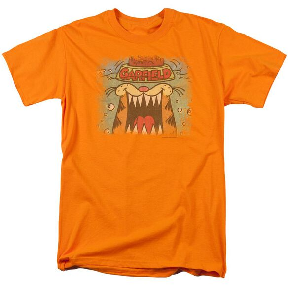 Garfield From The Depths Short Sleeve Adult Orange T-Shirt