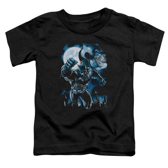 BATMAN MOONLIGHT BAT - S/S TODDLER TEE - BLACK - T-Shirt