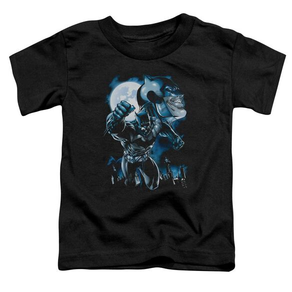 Batman Moonlight Bat Short Sleeve Toddler Tee Black Lg T-Shirt