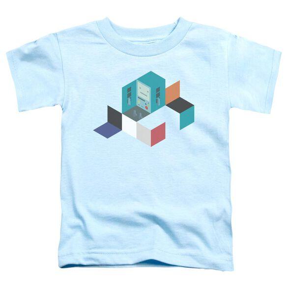 Adventure Time Bmo Blocks Short Sleeve Toddler Tee Light Blue T-Shirt
