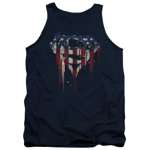 Superman Bleeding Shield Adult Tank