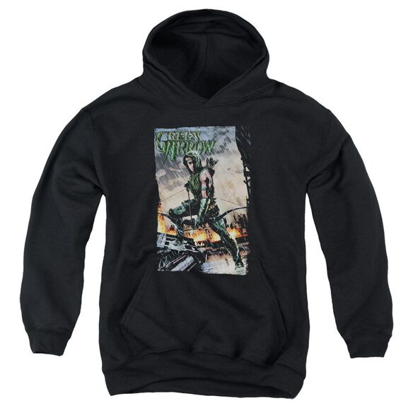 Jla Fire And Rain Youth Pull Over Hoodie