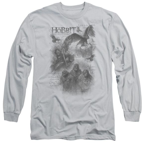 The Hobbit Sketches Long Sleeve Adult T-Shirt