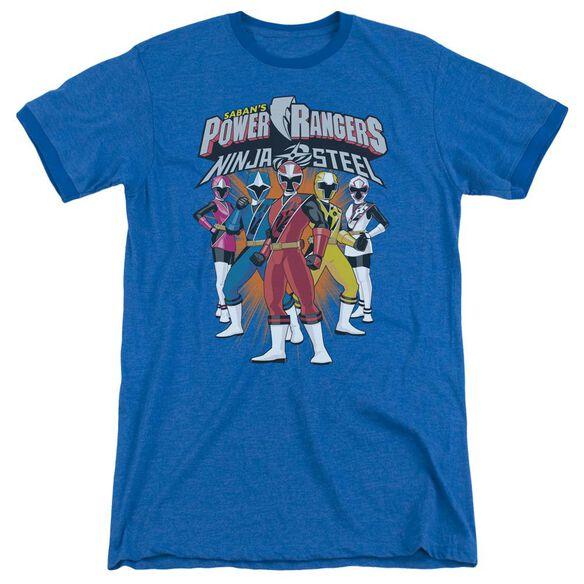 Power Rangers Team Lineup Adult Ringer Royal Blue