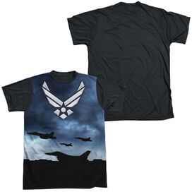 AIR FORCE TAKE OFF-S/S ADULT WHITE FRONT BLACK BACK T-Shirt
