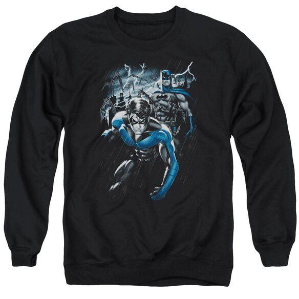 Batman Dynamic Duo - Adult Crewneck Sweatshirt - Black