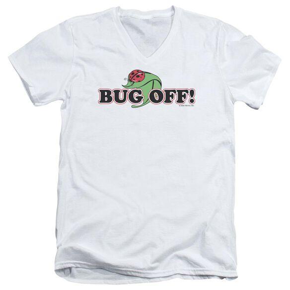 GARDEN BUG OFF - S/S ADULT V-NECK - WHITE T-Shirt