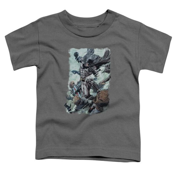 Batman Punch Short Sleeve Toddler Tee Charcoal T-Shirt