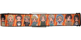 Hetalia Faces Orange Stripes Seatbelt Belt