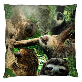 Sloth Club Throw Pillow