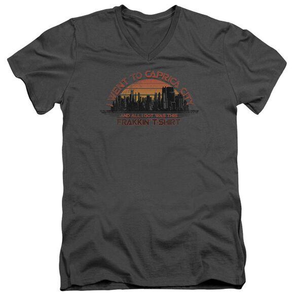 BSG CAPRICA CITY - S/S ADULT V-NECK - CHARCOAL T-Shirt