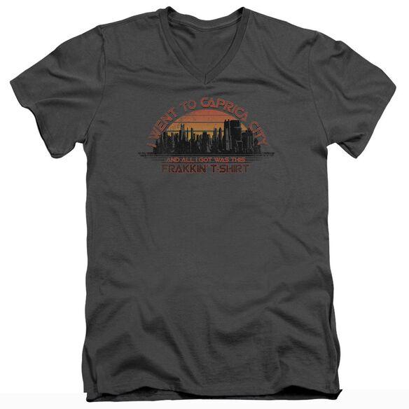 BSG CAPRICA CITY - S/S ADULT V-NECK T-Shirt