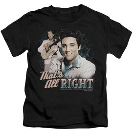 Elvis That's All Right Short Sleeve Juvenile Black T-Shirt