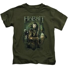 Hobbit Thorin And Company Short Sleeve Juvenile Military T-Shirt