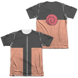 Naruto Shippuden Costume (Front Back Print) Adult Poly Cotton Short Sleeve Tee T-Shirt