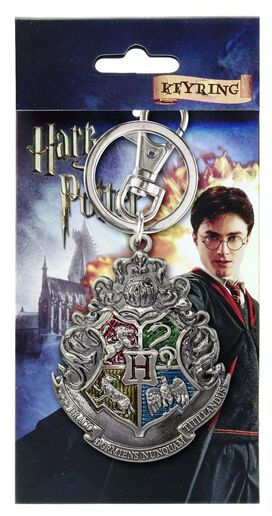 Harry Poptter Hogwarts School Crest Pewter Key Ring