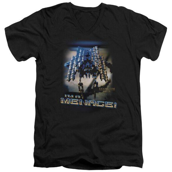 Sg1 Menace Short Sleeve Adult V Neck T-Shirt