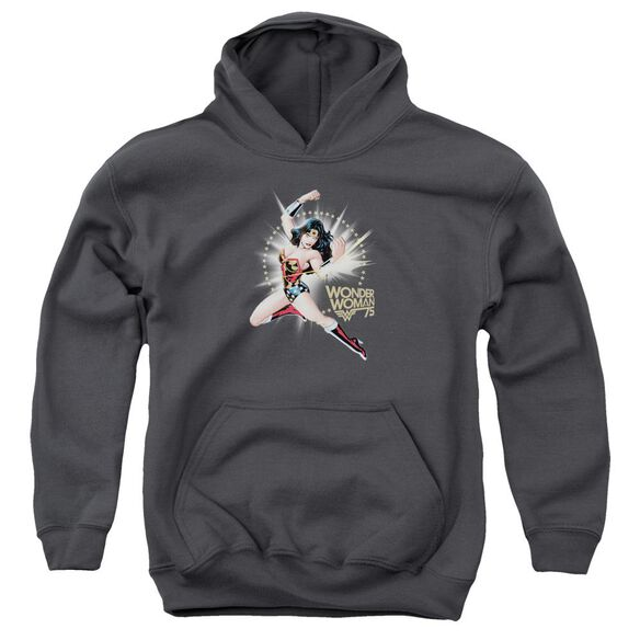 Wonder Woman Ww75 The Bracelets Of Submission Youth Pull Over Hoodie