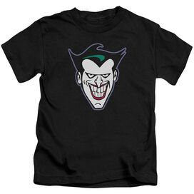 Batman The Animated Series Joker Face Short Sleeve Juvenile T-Shirt