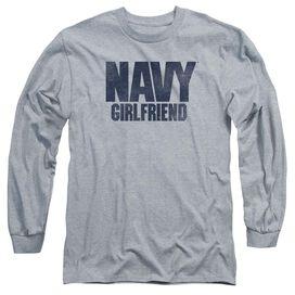 Navy Girlfriend Long Sleeve Adult Athletic T-Shirt