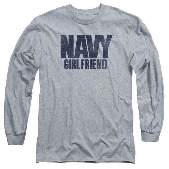 Navy Girlfriend Long Sleeve Adult Athletic T-Shirt