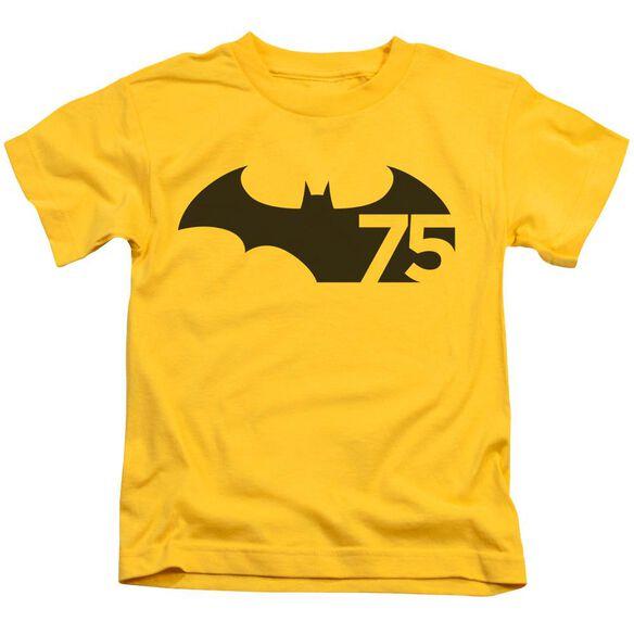 Batman 75 Logo Short Sleeve Juvenile T-Shirt