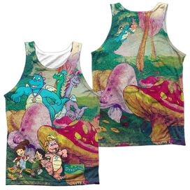 Dragon Tales Mushroom Meadow (Front Back Print) Adult Poly Tank Top