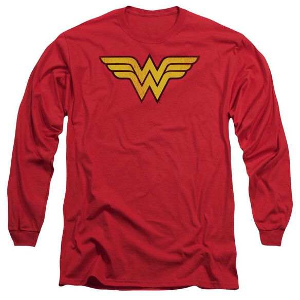 Dc Wonder Woman Logo Dist Long Sleeve Adult T-Shirt