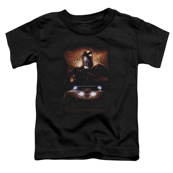 Batman Begins Batman & Tumbler Short Sleeve Toddler Tee Black T-Shirt