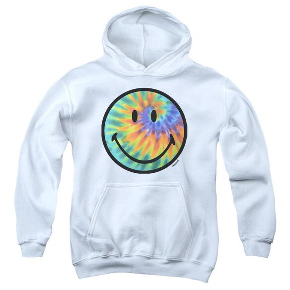 Smiley World Tie Dye Face Youth Pull Over Hoodie