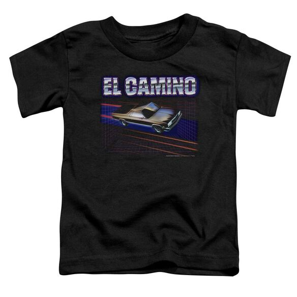Chevrolet El Camino 85 Short Sleeve Toddler Tee Black T-Shirt