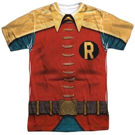 Batman Classic Tv Robin Costume Short Sleeve Adult Poly Crew T-Shirt