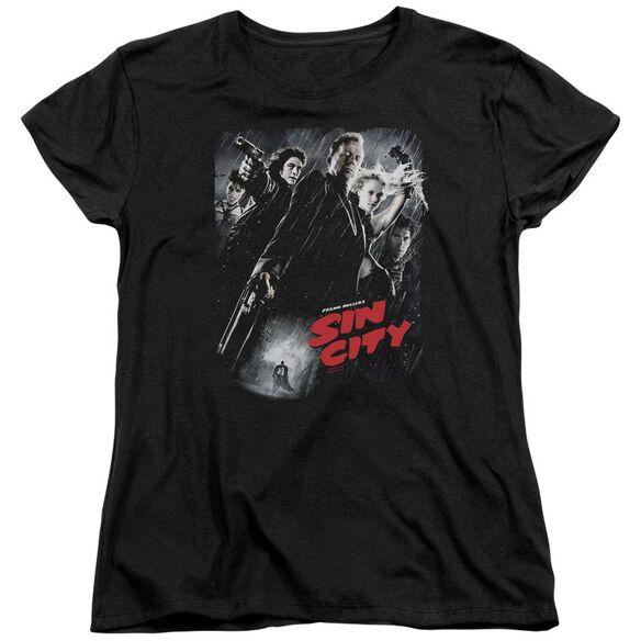 Sin City Sc Poster Short Sleeve Womens Tee T-Shirt