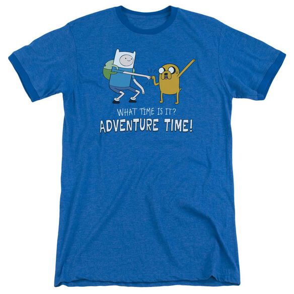 Adventure Time Fist Bump Adult Ringer Royal Blue