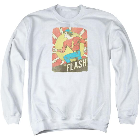 Dc Tattered Poster Adult Crewneck Sweatshirt
