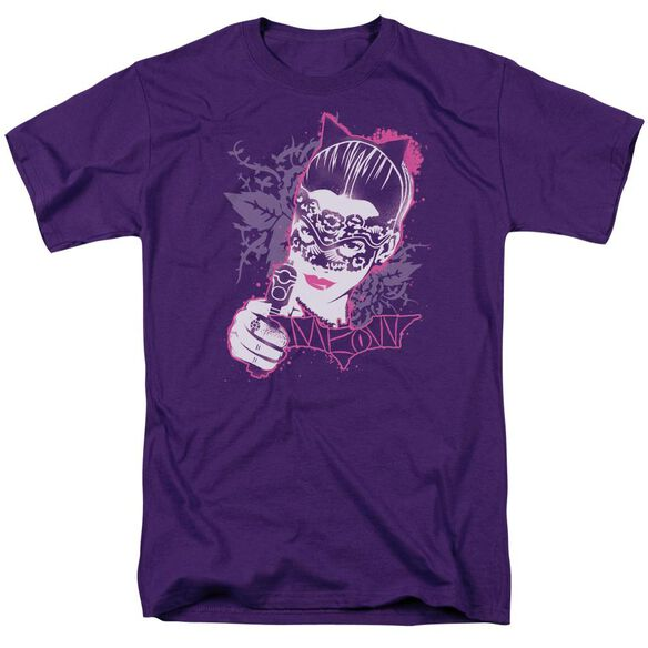 Dark Knight Rises Masked Kitty Short Sleeve Adult T-Shirt