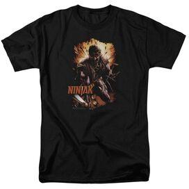 Ninjak Fiery Ninjak Short Sleeve Adult T-Shirt