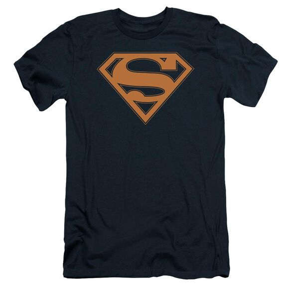 Superman & Orange Shield Short Sleeve Adult T-Shirt
