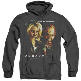 Bride Of Chucky Chucky Gets Lucky - Adult Heather Hoodie - Black