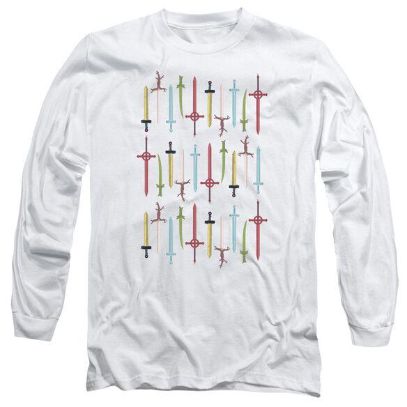 Adventure Time Swords Long Sleeve Adult T-Shirt