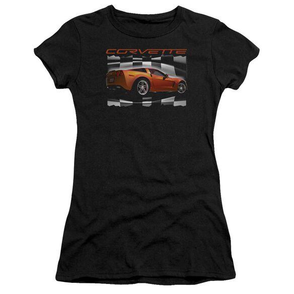 Chevrolet Orange Z06 Vette Short Sleeve Junior Sheer T-Shirt