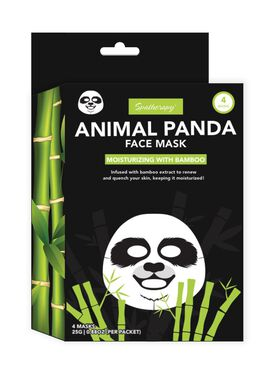 Spatherapy Animal Panda Face Mask - 4 Count