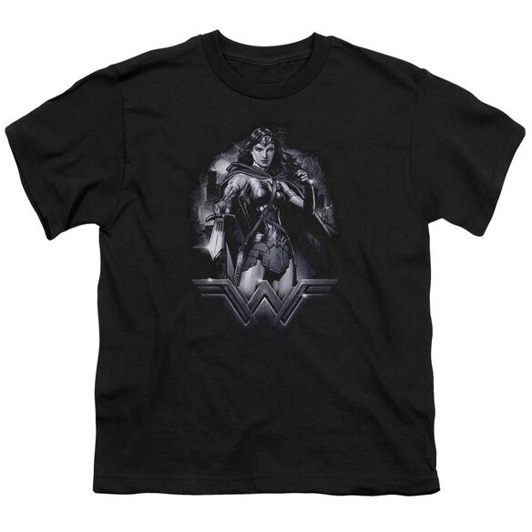 Batman Vs Superman Rainy Night Short Sleeve Youth T-Shirt