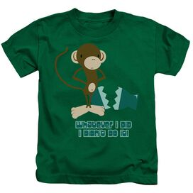 I Didn't Do It! Short Sleeve Juvenile Kelly Green T-Shirt