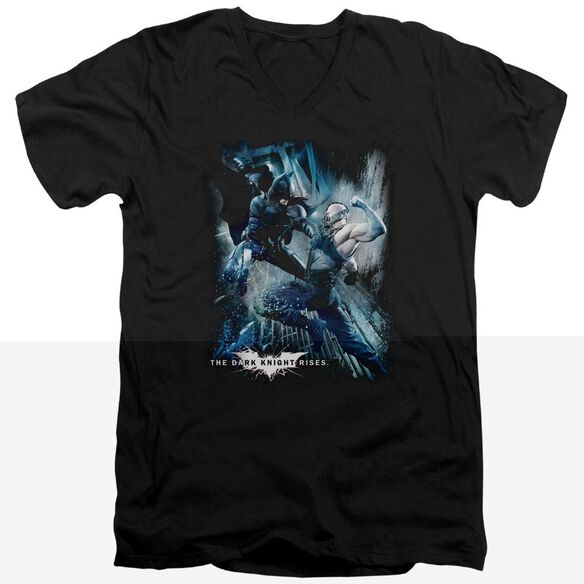 Dark Knight Rises Showdown Short Sleeve Adult V Neck T-Shirt
