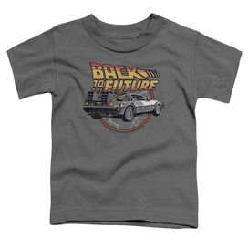 Back To The Future Time Machine Short Sleeve Toddler Tee Charcoal Lg Charcoal Lg T-Shirt